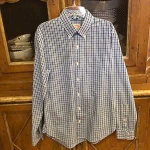 Brooks Brothers blue check long sleeve shirt